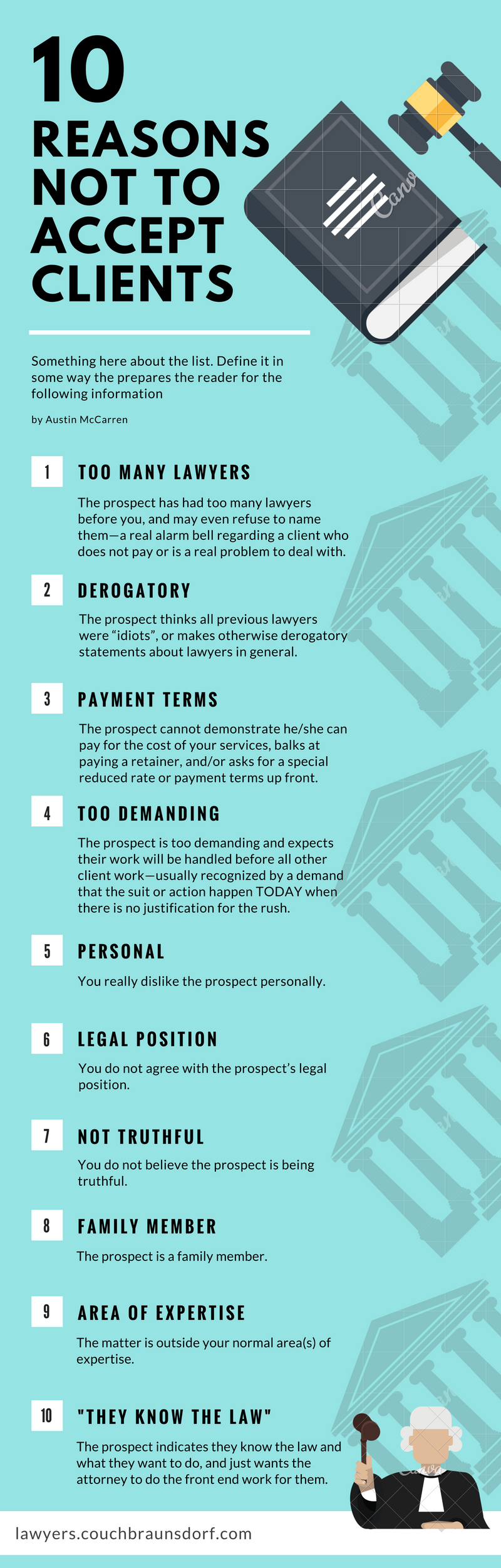 10 Reasons Not To Accept Clients